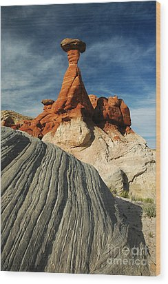 702a Rock Formation Wood Print by NightVisions