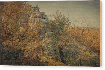 Rock Formation Wood Print by Sandy Keeton
