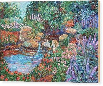 Rock Garden Wood Print by Kendall Kessler