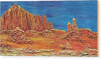 Rock Grove Wood Print by Marcia Weller-Wenbert