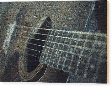 Rock Guitar Wood Print