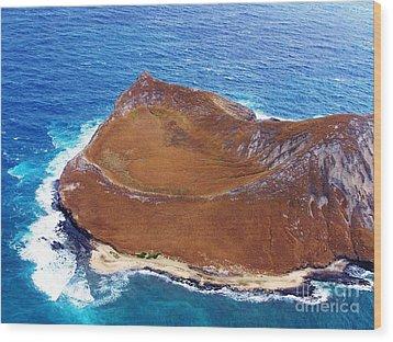 Rock Island Oahu Wood Print