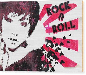Rock N Troll Wood Print by Vanessa Baladad