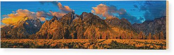 Rock Of Ages Panorama Wood Print by Greg Norrell
