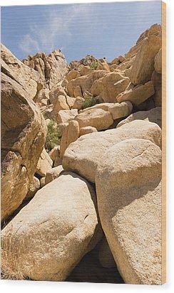 Rock Pile Wood Print