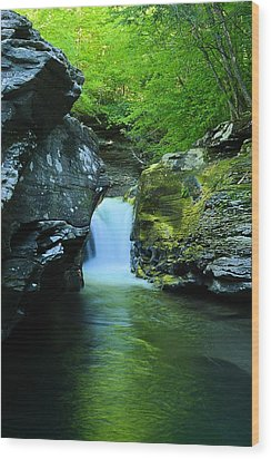 Rock Run Cataracts #1 Wood Print