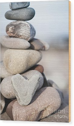Rock Solid Love Wood Print by Anne Gilbert