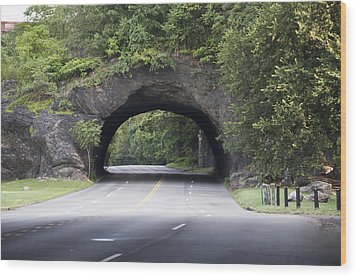 Rock Tunnel On Kelly Drive Wood Print by Bill Cannon