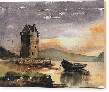 Rockfleet Castle In Mayo Wood Print