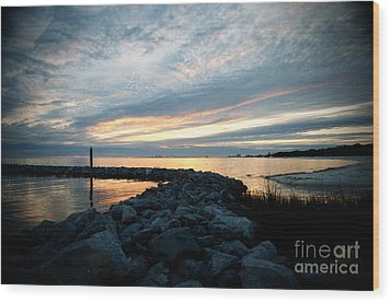 Wood Print featuring the photograph Rockin Sundown by Maddalena McDonald