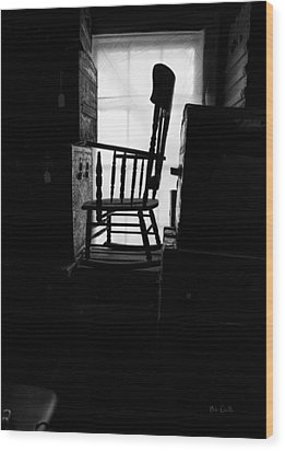 Rocking Chair Wood Print by Bob Orsillo