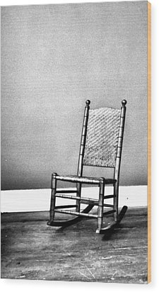 Rocking Chair Wood Print