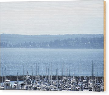 Rocking In The Puget Sound Wood Print by Laura Watts