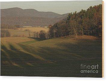Rockingham County Virginia Meadow Wood Print