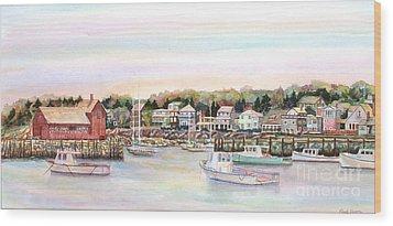 Rockport Harbor Ma Wood Print by Pamela Parsons