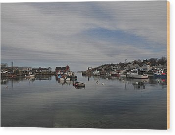 Rockport Harbor Wood Print by Mike Martin