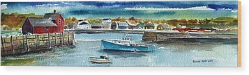 Rockport Harbor Wood Print by Scott Nelson