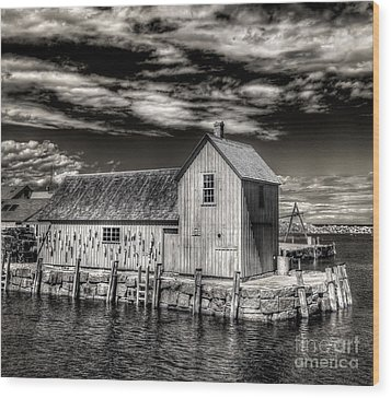 Wood Print featuring the photograph Rockport Harbor by Steve Zimic