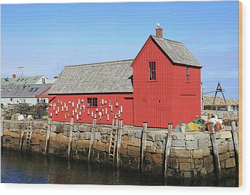 Rockport Motif Number 1 Wood Print by Lou Ford