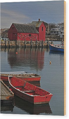 Rockport No. 1 Wood Print by Mike Martin