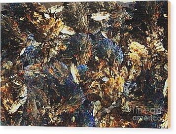 Rocks And Minerals Wood Print by Klara Acel