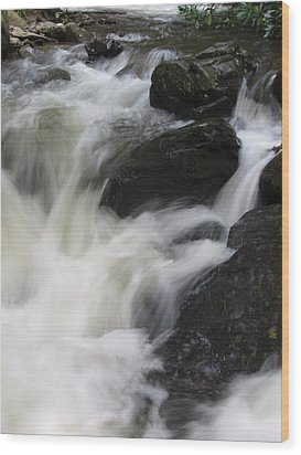 Wood Print featuring the photograph Rocks At Bushkill by Richard Reeve