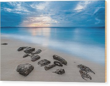 Wood Print featuring the photograph Rocks By The Sea by Mihai Andritoiu