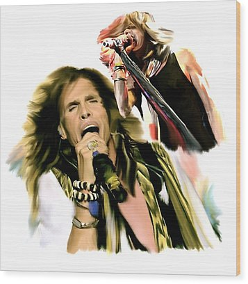 Rocks Gothic Lion II  Steven Tyler Wood Print by Iconic Images Art Gallery David Pucciarelli