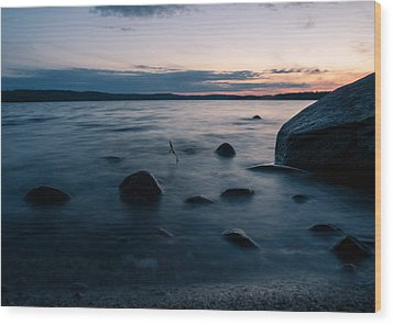 Rocks At A Shore Wood Print by Janne Mankinen