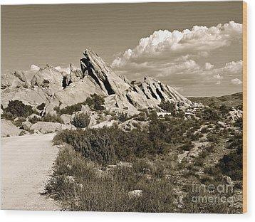Rocks On Warm Wind Wood Print by Gem S Visionary
