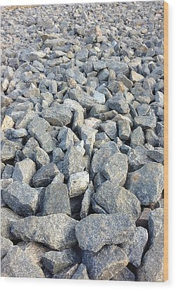 Rocks Wood Print by Roque Rodriguez