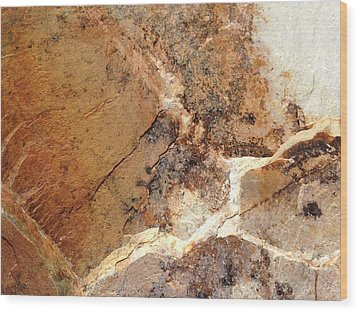 Rockscape 1 Wood Print by Linda Bailey