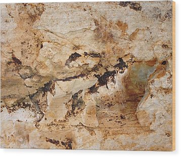 Rockscape 3 Wood Print by Linda Bailey