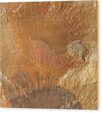 Rockscape 6 Wood Print by Linda Bailey