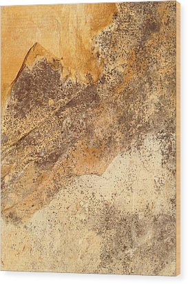Rockscape 7 Wood Print by Linda Bailey