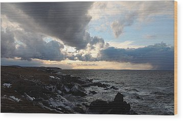 Wood Print featuring the photograph Rocky Beach 2 by Bozena Zajaczkowska