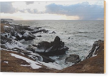 Wood Print featuring the photograph Rocky Beach by Bozena Zajaczkowska