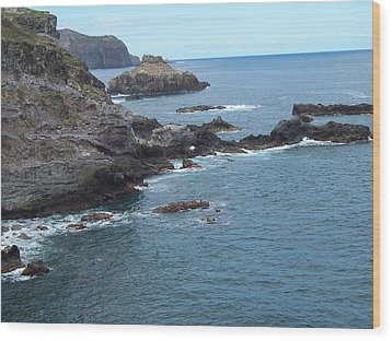 Wood Print featuring the photograph Rocky Coastline by Sheila Byers