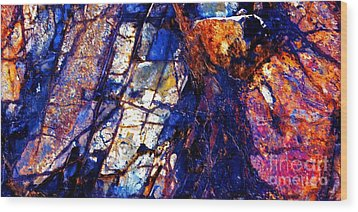 Rocky Color Explosion Wood Print