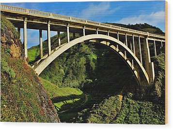 Rocky Creek Bridge Wood Print by Benjamin Yeager
