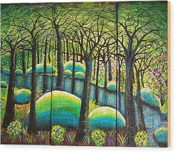 Rocky Creek Wood Print
