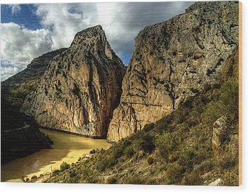 Wood Print featuring the photograph Rocky El Chorro In Andalusia by Julis Simo