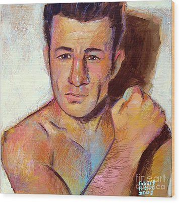 Wood Print featuring the painting Rocky Graziano  by Robert Phelps