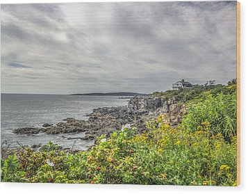 Wood Print featuring the photograph Rocky Maine Shoreline by Jane Luxton