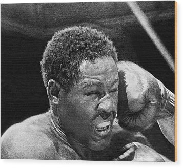 Rocky Marciano Fist Wood Print by Underwood Archives