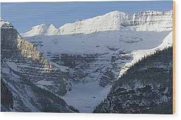Rocky Mountain Blue Wood Print by Cheryl Miller