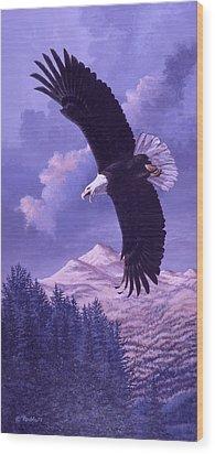 Rocky Mountain High Wood Print by Richard De Wolfe