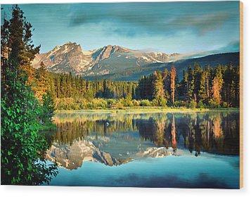 Rocky Mountain Morning - Estes Park Colorado Wood Print by Gregory Ballos