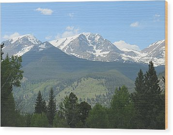 Wood Print featuring the photograph Rocky Mountain National Park - 2 by Christy Pooschke