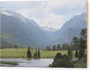 Wood Print featuring the photograph Rocky Mountain National Park  by Christy Pooschke
